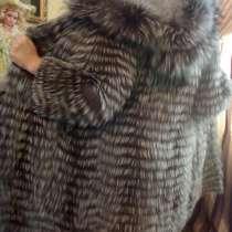 Демисезонное пальто *вязанка* с чернобурки, в Тольятти