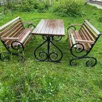 Садовый комплект, лавочка, скамейка садовая, в Москве