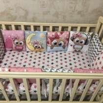 Новые бортики в кроватку для девочки, в Новосибирске
