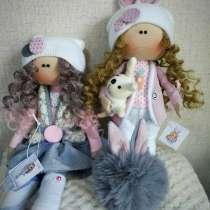 Интерьерные текстильные куколки ручной работы, в Москве