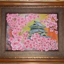 Цветущая сакура, в Красном Сулине