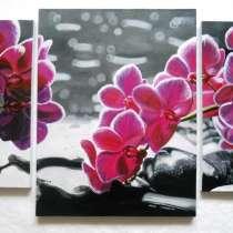 "Триптих ""Орхидеи"", холст, масло, (30х49см, 46х60см, 30х49см), в г.Киев"