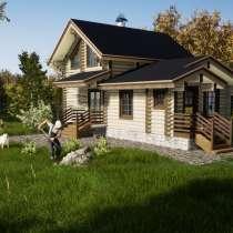 Проект дома-бани из бревна под названием Фердинанд, в Ярославле