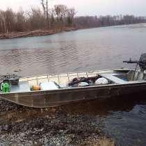 Алюминиевая лодка плоскодонка Джет бот. Изготовлен, в Владивостоке