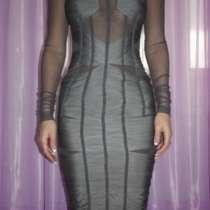 Платье новое Dolce&Gabbana Италия S 42 серое сетка стрейч ми, в Москве