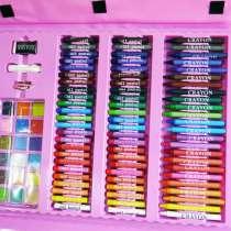 Набор для рисования чемодан 208 предметов Цвет розовый, в г.Киев