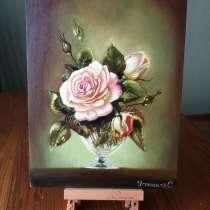 Картина маслом. Розы, в Москве