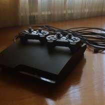 PlayStation 3 slim с 5 играми, с джойстиками(оригин, в Махачкале