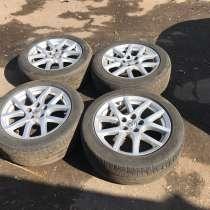 Оригинальные диски Toyota r17, с летней резиной, в Химках
