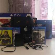 PlayStation 4 Slim (PS4) 500gb + игры и аксессуары, в Новосибирске