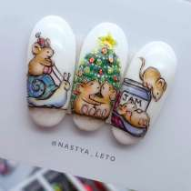 "NailArt картина миниатюра ""Mouse in christmas"", в г.Барселона"