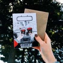 Новогодние открытки с авторскими иллюстрациями, в Томске
