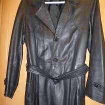 Продам мужской чёрный кожаный плащ 50-52 р-р, в г.Минск