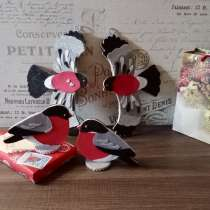 Оригинальные подарки к новому году от дизайнера, снегири, в Симферополе