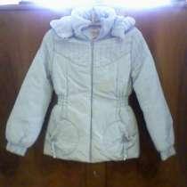 Продам куртку голубую для девочки рост 140 см новая, в Санкт-Петербурге