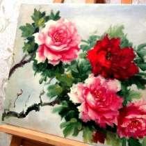 Розы, 50х60см, Картина маслом на холсте, Художник, в Москве