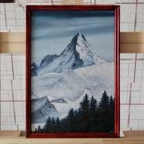Северная гора. 35×50 см. Холст на картоне, масло, в г.Костанай