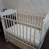 Кроватка детская Виолетта-6 с маятником, матрасом, в Вельске