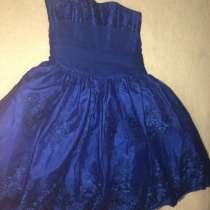 Торжественное, вечернее, синее платье, в Волгограде