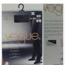 Чулки новые Vogue 60 ден плотные размер М чёрные на резине, в Москве