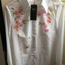 Блузочка белая в цветы, в Москве