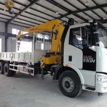 Бортовой грузовик FAW ca5250 с КМУ XCMG sq10sk3q 10т, в Красноярске