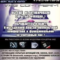 Активация скрытых функций Audi,Volkswagen,Skoda,Seat в Перми, в Перми
