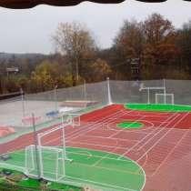 Строительство спортивных площадок для мини футбола, теннисны, в Екатеринбурге