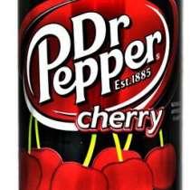 Dr Pepper Cherry (Доктор Пеппер Вишня) в жестяной банке,США, в Владивостоке