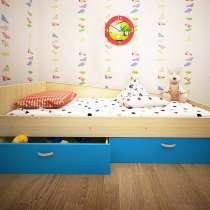 Кровать Антошка с 2-мя ящиками, в Нижневартовске