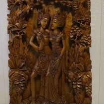 Художественная ручная резьба по дереву из Бали, в Москве