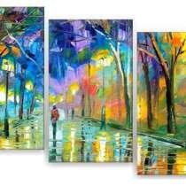 """Модульная картина """"Осенний вечер в городе"""", в Тольятти"""