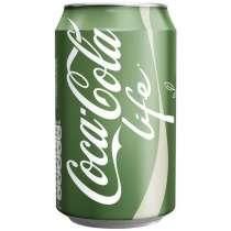 Coca-Cola Life (Кока-Кола Лайф, США) в жестяной банке, 0.355, в Владивостоке
