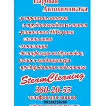 химчистка салона автомобиля паром, в Новосибирске