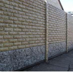 Еврозаборы глянцевые, цветные мрамор из бетона, в г.Харьков