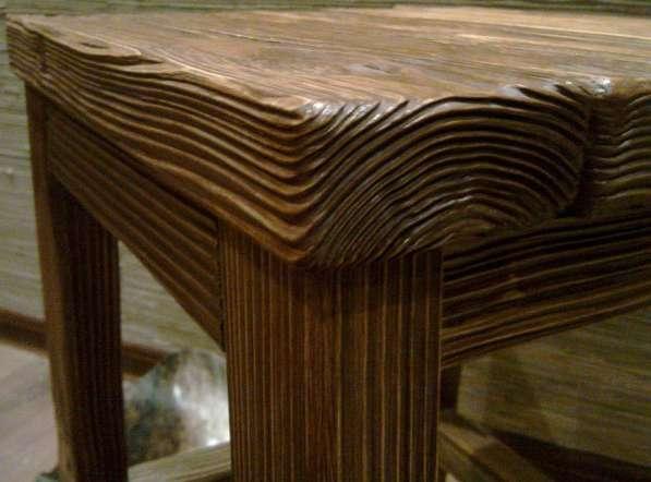 Браширование, текстурирование (старение) древесины в Воронеже фото 5