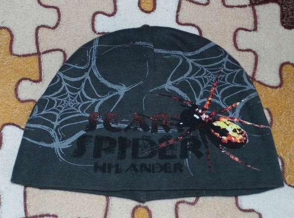 Шапка трикотажная человек паук на 2-5лет