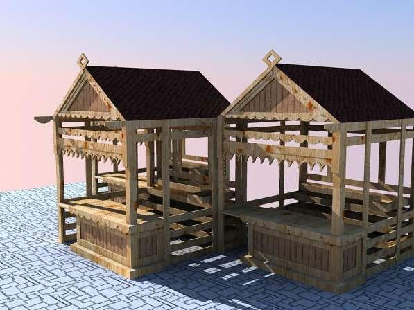 Изготавливаем деревянные ярмарочные домики в Ростове-на-Дону фото 11