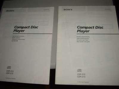 Инструкция мини-дисковой деки SONY CDP31