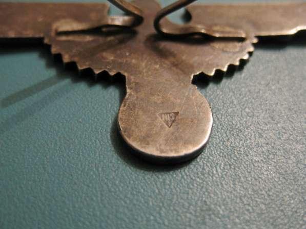Эмблема и мертвая голова на фуражку эсэсовца (серебро) в фото 3