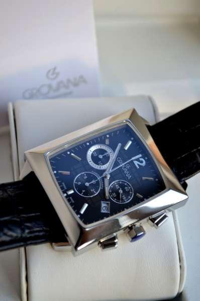 Швейцарские часы Grovana, хронограф, сапфировое стекло