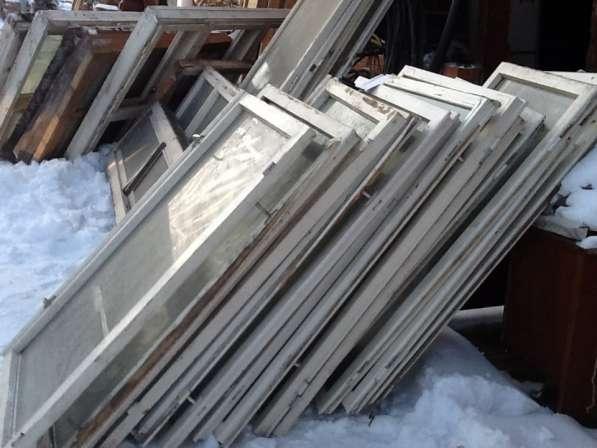 Продам оконные рамы со стеклом, Разных размеров
