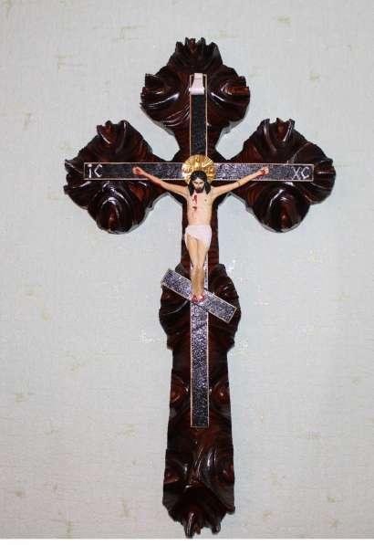 Крест, резьба по дереву