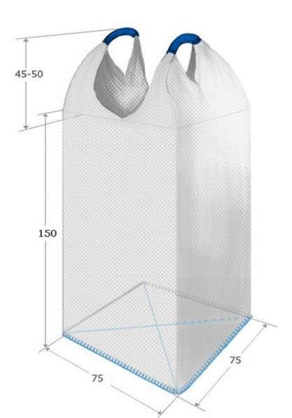 Биг-бэг(МКР) 75х75х150 см