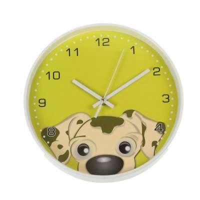 Часы настенные круглые на циферблате Щен