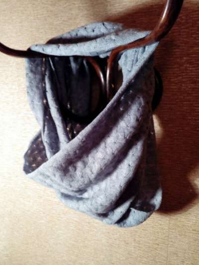 Шарф-хомут жемчужно-серый