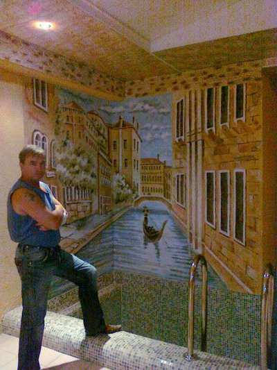 Портрет по фото. Роспись стен в Омске фото 3