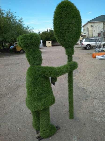 Повар из искусственной травы для рекламы ресторана, кафе в Краснодаре фото 3