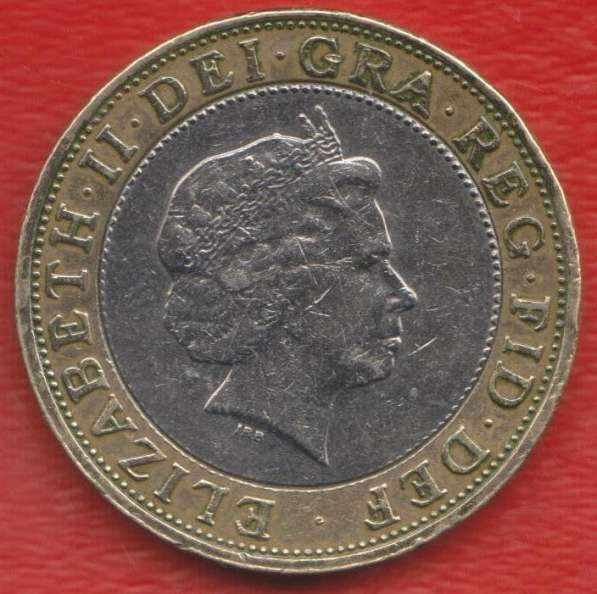 Великобритания Англия 2 фунта 1998 г Елизавета II в Орле