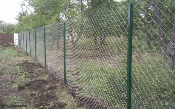 Заборы из сетки рабицы в Ярославле